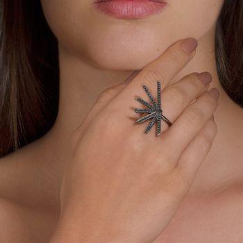 star-ring-white-gold-black-rhodium-black-diamonds-model