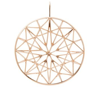 round-earring-plated-rose-gold