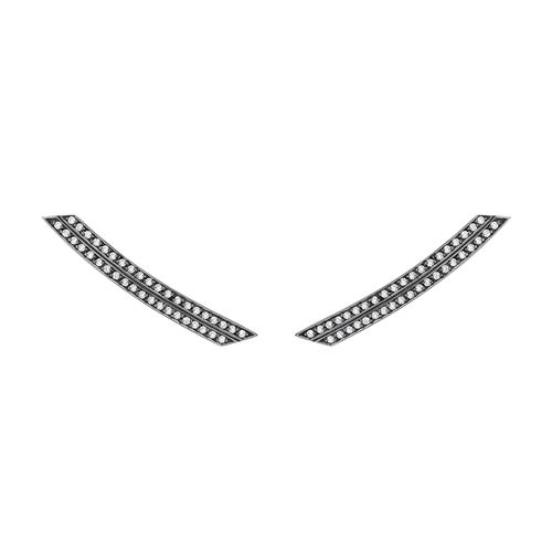 slim_deco_comet_earrings_18k_white_gold_black_rodhium_light_light_brown_diamonds