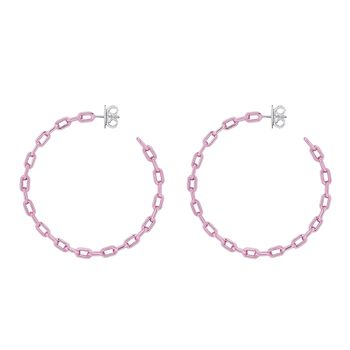 pink-chain-hoops-silver-with-pink-lacquer-still